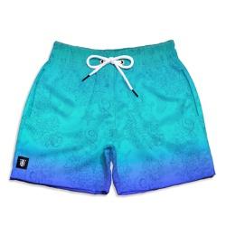 Short Praia Infantil Fundo do Mar Use Thuco Azul -... - Use Thuco