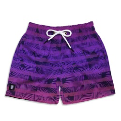 Short Praia Infantil Leave Stripes Roxo Use Thuco ... - Use Thuco
