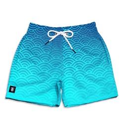 Short Praia Infantil Sea Degrade Use Thuco Azul - ... - Use Thuco