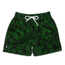 Short Praia Infantil Floral Hawai Use Thuco Preto ... - Use Thuco