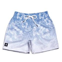 Short Praia Infantil Floral Hawai Azul Use Thuco B... - Use Thuco