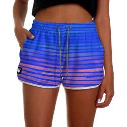 Short Praia Feminino Azul Royal com Listras Use Th... - Use Thuco