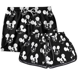 Kit Shorts Casal Masculino e Feminino Carinhas MK...