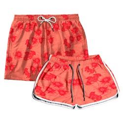 Kit Shorts Casal Masculino e Feminino Butter Tropi...