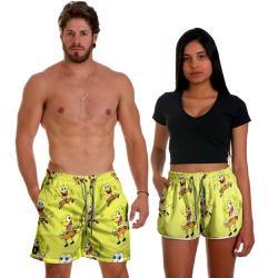 Kit Shorts Casal Masculino e Feminino Bob Use Thuc