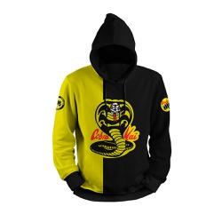 Moletom Cobra Kai Amarelo Full Print 3d com Capuz ... - Use Thuco