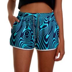 Short Praia Feminino Estampado Azul Use Thuco - F... - Use Thuco