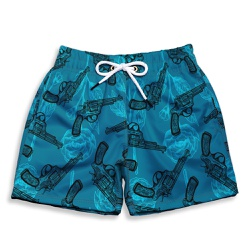 Short Praia Infantil Love And Guns Blue Use Thuco ... - Use Thuco