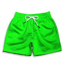 Short Praia Infantil Verde Liso Use Thuco - IN105 - Use Thuco