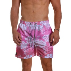 Short Praia Masculino Rosa Degrade Folhagem Use Th... - Use Thuco