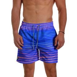Short Praia Masculino Azul Royal com Listras Use T... - Use Thuco
