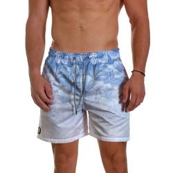 Short Praia Masculino Floral Hawai Azul Degrade Us... - Use Thuco