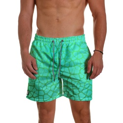Short Praia Masculino Turtle Shell Degrade Verde U... - Use Thuco