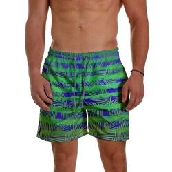 Short Praia Masculino Leaves Stripes Verde Use Thu... - Use Thuco