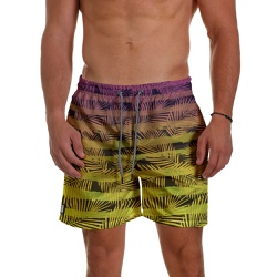 Short Praia Masculino Leaves Stripes Degrade Use T... - Use Thuco