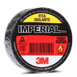 FITA ISOLANTE IMPERIAL PRETA 20 METROS-3M - 00034 - VIA BRASIL CASA & CONSTRUÇÃO