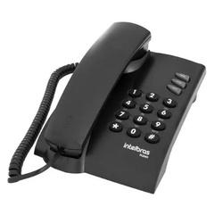 TELEFONE COM FIO DE MESA PLENO PRETO-INTELBRAS - 0... - VIA BRASIL CASA & CONSTRUÇÃO