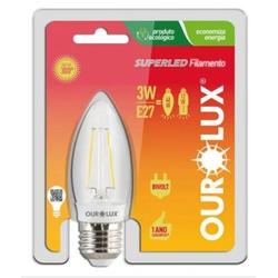 LAMPADA LED VELA LISA E27 1.3W 127V 2700K-OUROLUX ... - VIA BRASIL CASA & CONSTRUÇÃO