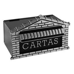 CAIXA DE CORREIO TIJOLINHO ACO EMBUTIR 15X20X15CM-... - VIA BRASIL CASA & CONSTRUÇÃO