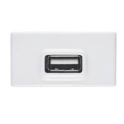 MODULO USB BRANCO BRILHO BRANCO LIZ/LUX2 57115/041... - VIA BRASIL CASA & CONSTRUÇÃO