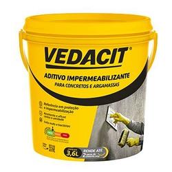 VEDACIT ADITIVO IMPERMEABILIZANTE GALAO 3,6 LITROS... - VIA BRASIL CASA & CONSTRUÇÃO