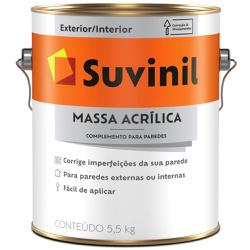 MASSA ACRILICA 5,5KG 3,6L 53446351 -SUVINIL - 127... - VIA BRASIL CASA & CONSTRUÇÃO