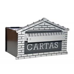 CAIXA DE CORREIO TIJOLINHO ACO PARA GRADE 15X20X15... - VIA BRASIL CASA & CONSTRUÇÃO