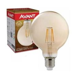 LAMPADA RETRO GLOBO G95 E27 BQ 2200K 4W 180030272-... - VIA BRASIL CASA & CONSTRUÇÃO
