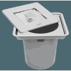 LIXEIRA INOX DE EMBUTIR CLEAN 5 LITROS 94518205-TR... - VIA BRASIL CASA & CONSTRUÇÃO