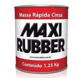 MAXI MASSA RAPIDA CINZA 1,25 KILO-MAXI RUBBER - 14... - VIA BRASIL CASA & CONSTRUÇÃO