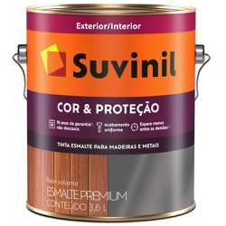 TINTA ESMALTE SINTETICO BRILHANTE COR E PROTECAO C... - VIA BRASIL CASA & CONSTRUÇÃO
