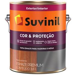 TINTA ESMALTE SINTETICO BRILHANTE COR E PROTECAO P... - VIA BRASIL CASA & CONSTRUÇÃO