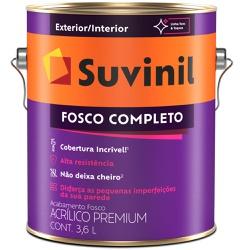 TINTA ACRILICA FOSCO COMPLETO BRANCO NEVE 3,6L 533... - VIA BRASIL CASA & CONSTRUÇÃO