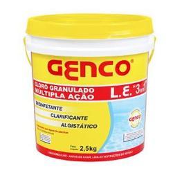 CLORO GRANULADO MULTIPLA ACAO L.E, 3X1 PARA PISCIN... - VIA BRASIL CASA & CONSTRUÇÃO