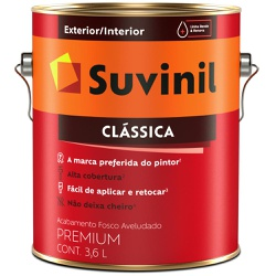 TINTA LATEX PVA CLASSICA VERMELHO CARDINAL 3,6L 53... - VIA BRASIL CASA & CONSTRUÇÃO
