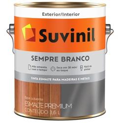 TINTA ESMALTE SINTETICO BRILHANTE SEMPRE BRANCO 3,... - VIA BRASIL CASA & CONSTRUÇÃO