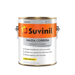 MASSA CORRIDA PVA 5,7KG 3,6L GALAO 54014564-SUVINI... - VIA BRASIL CASA & CONSTRUÇÃO