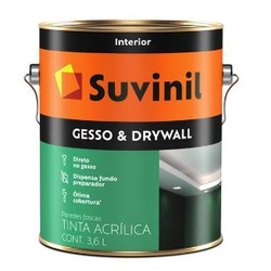 TINTA DIRETO SOBRE GESSO DRYWALL 3,6L 50508911-SUV... - VIA BRASIL CASA & CONSTRUÇÃO