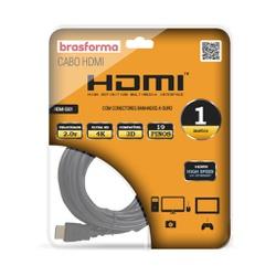 CABO HDMI 2.0 4K 3D 1080P 19 PINOS ALTA DEFINICAO ... - VIA BRASIL CASA & CONSTRUÇÃO