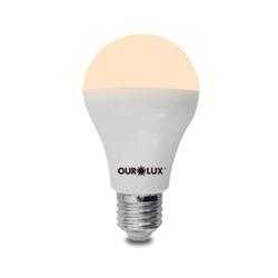 LAMPADA LED BULBO 09W BIVOLT 3000K BRANCO QUENTE-O... - VIA BRASIL CASA & CONSTRUÇÃO