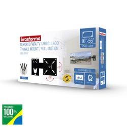 SUPORTE ARTICULADO PARA TV 10 ATE 56 BRA3.0-BRASFO... - VIA BRASIL CASA & CONSTRUÇÃO