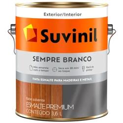 TINTA ESMALTE SINTETICO ACETINADO SEMPRE BRANCO 3,... - VIA BRASIL CASA & CONSTRUÇÃO