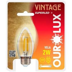 LAMPADA LED VELA BALAO E27 2W BIVOLT 2400K VINTAGE... - VIA BRASIL CASA & CONSTRUÇÃO