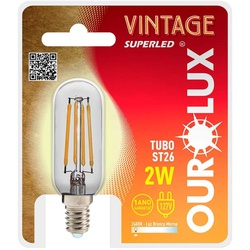 LAMPADA LED TUBO ST26 E27 2W 127V 2400K VINTAGE 05... - VIA BRASIL CASA & CONSTRUÇÃO