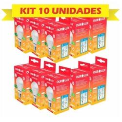 KIT COM 10 LAMPADAS LED BULBO 09W BIVOLT 6500K BRA... - VIA BRASIL CASA & CONSTRUÇÃO