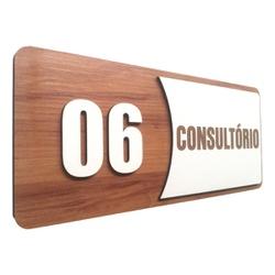 Placa De Sinalização | Consultórios - Nº06 - AC002... - VICTARE