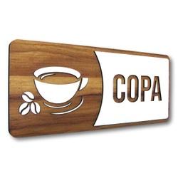 Placa De Sinalização | Copa - MDF 30x13cm - AC0031... - VICTARE