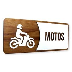Placa De Sinalização   Motos - MDF 30x13cm - AC009... - VICTARE