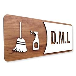 Placa De Sinalização   D.M.L - MDF 30x13cm - AC003... - VICTARE