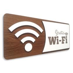Placa De Sinalização | Wi-Fi - Grátis - AC0241-A - VICTARE